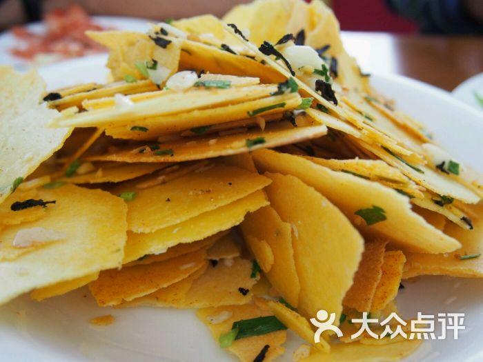 菜玉米饼图片-千岛湖美食